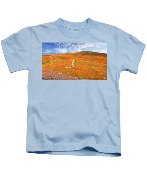 The Trail Through The Poppies Kids T-Shirt