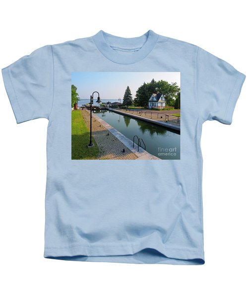 Three Lock Staircase In Chambly Quebec Kids T-Shirt