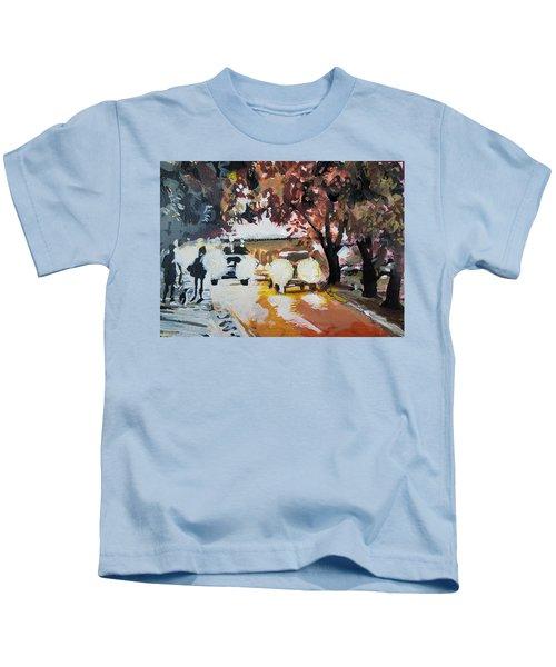 Early Morning Walk Kids T-Shirt