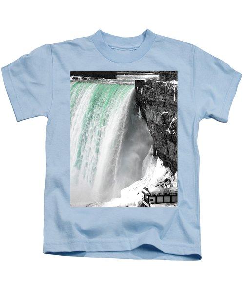 Turquoise Falls Kids T-Shirt