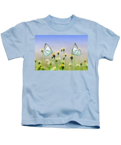 Two Butterflies Kids T-Shirt