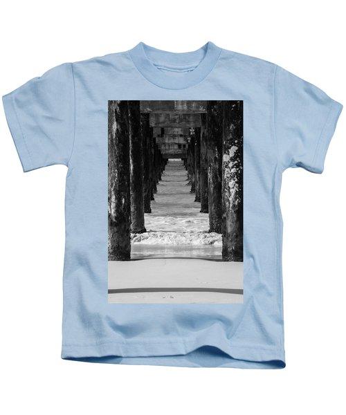 Under The Pier #2 Bw Kids T-Shirt