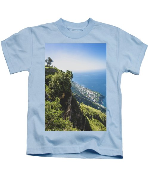 View Of Amalfi Italy From Path Of The Gods Kids T-Shirt