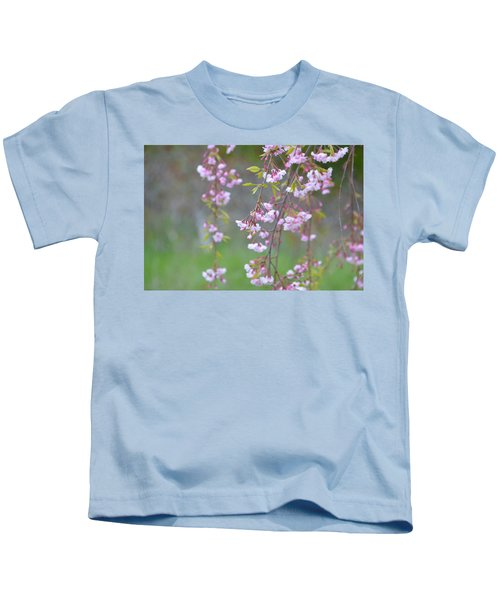 Weeping Cherry Blossoms Kids T-Shirt