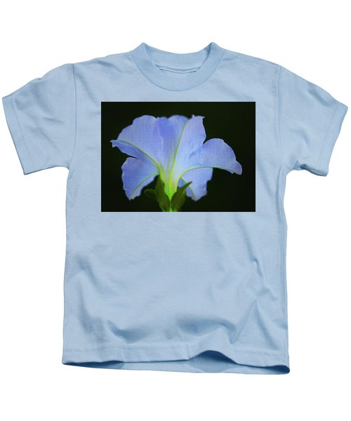 White Petunia Kids T-Shirt