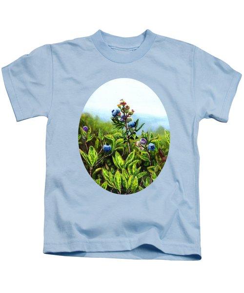 Wild Maine Blueberries  Kids T-Shirt