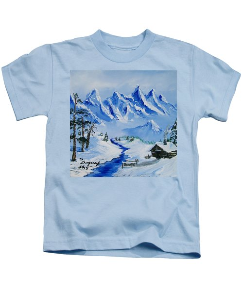 Winter In The Rockies Kids T-Shirt
