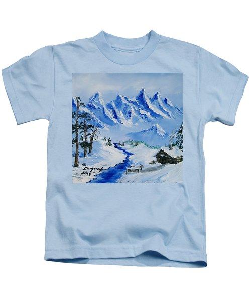 Winter In The Rockies Kids T-Shirt