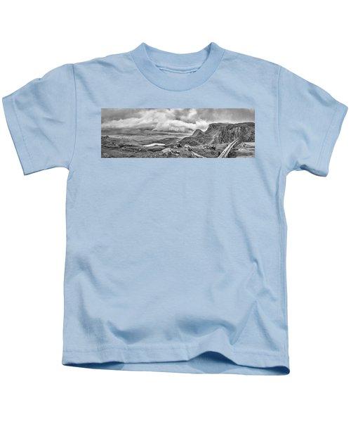 Yellow Autumn Panoramic Bw #i1 Kids T-Shirt