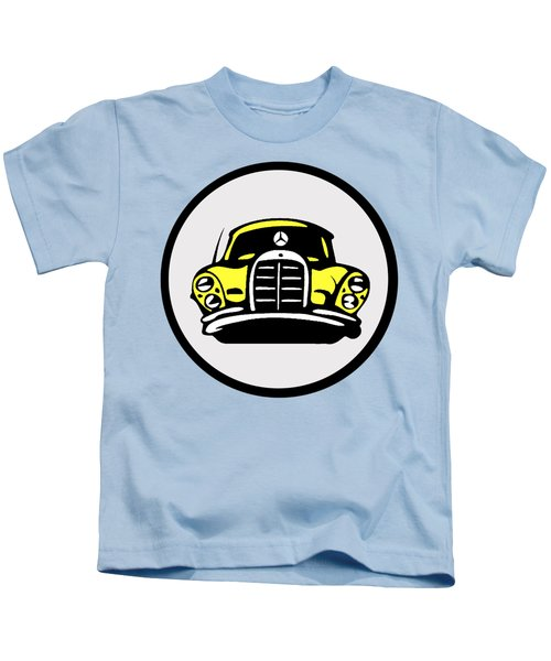Yellow Mbz Pop Artwork Kids T-Shirt