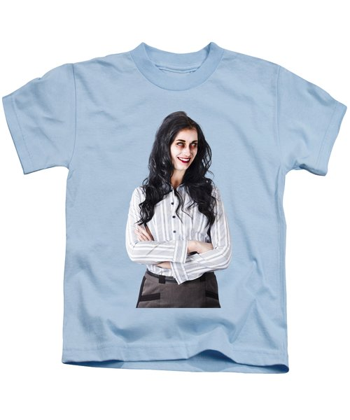 Zombie Businesswoman Kids T-Shirt