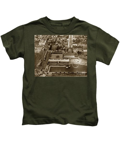 Neptune Beach Olympic Size Swimming Pool And A Roller Coaster Alameda Circa 1920 Kids T-Shirt