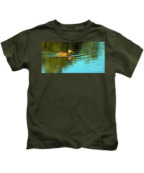 Northern Shoveler Duck Kids T-Shirt