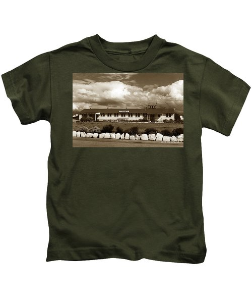 The Fort Ord Station Hospital Administration Building T-3010 Building Fort Ord Army Base Circa 1950 Kids T-Shirt