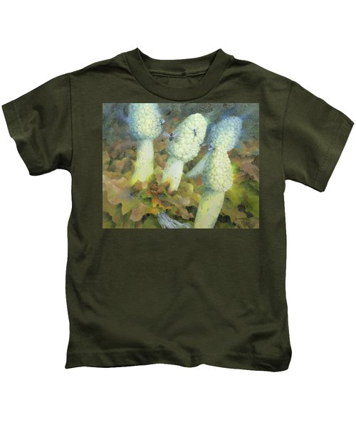 The Green Man With Fly Agaric Kids T-Shirt