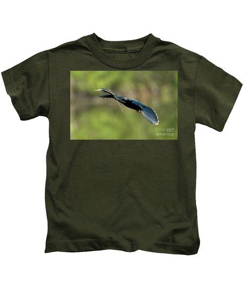 Anhinga Kids T-Shirt by Anthony Mercieca