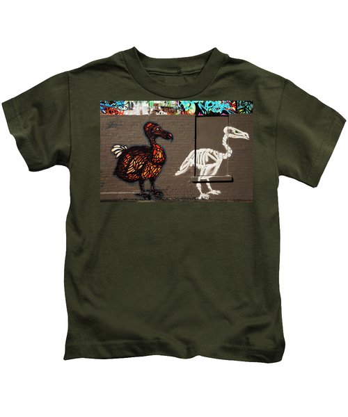 Artistic Graffiti On The U2 Wall Kids T-Shirt by Panoramic Images