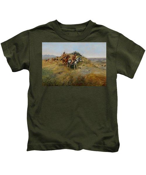 Buffalo Hunt Kids T-Shirt