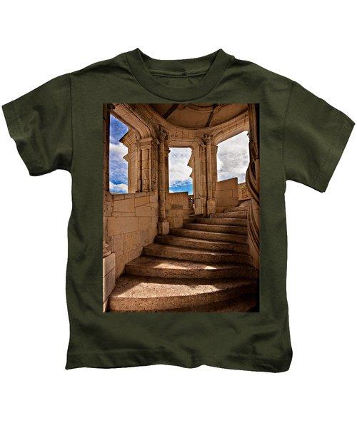 Chateau De Blois Staircase / Loire Valley Kids T-Shirt
