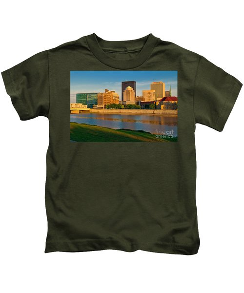 D4u-379 Dayton Skyline Photo Kids T-Shirt