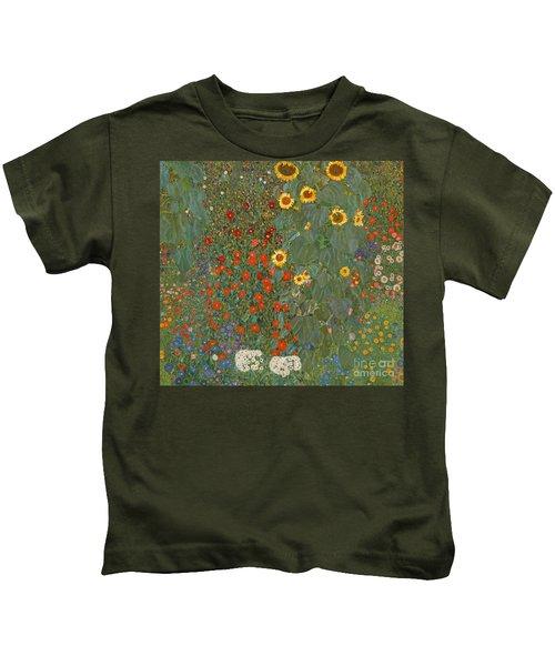 Farm Garden With Sunflowers Kids T-Shirt