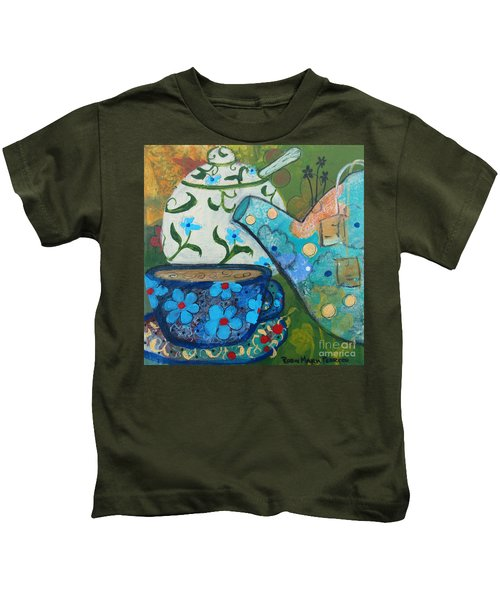 Floral Tea Kids T-Shirt