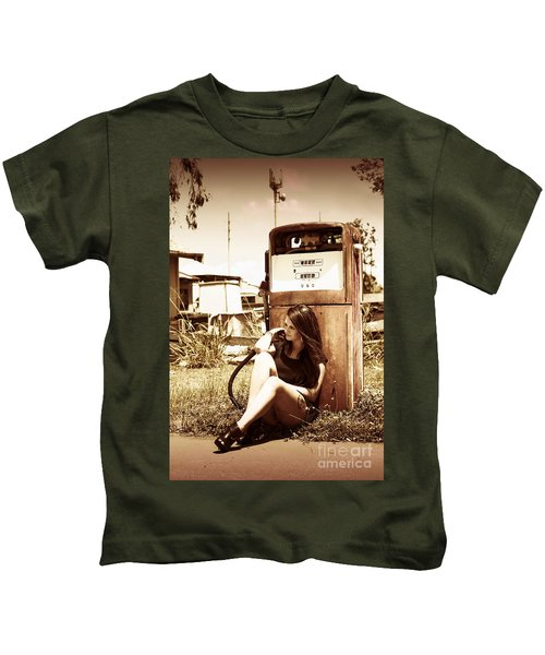 Ghost Town Named Oil And Gas Kids T-Shirt