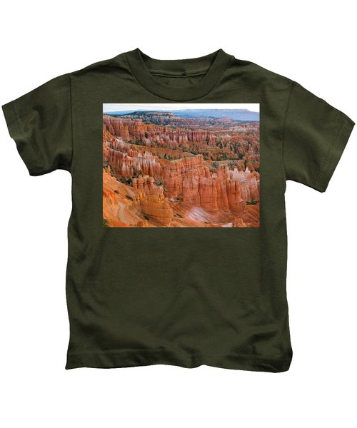 Hoodoo Rock Formations In A Canyon Kids T-Shirt