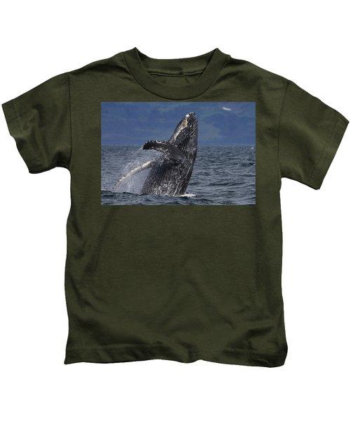 Humpback Whale Breaching Prince William Kids T-Shirt