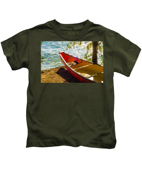 Kayak By The Water Kids T-Shirt