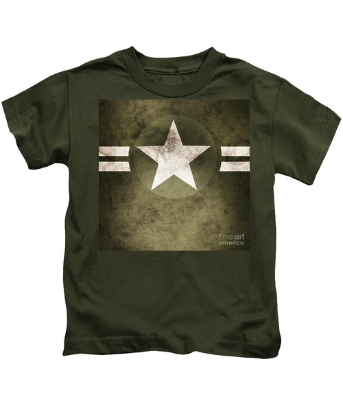 Military Army Star Background Kids T-Shirt