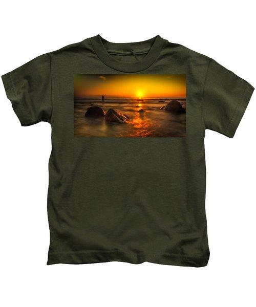 Montauk New York Summer Sunrise Kids T-Shirt