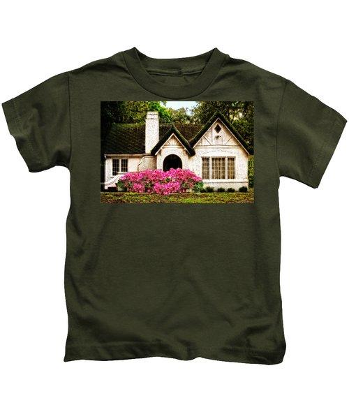 Pink Azaleas - Old Southern Charm By Sharon Cummings Kids T-Shirt