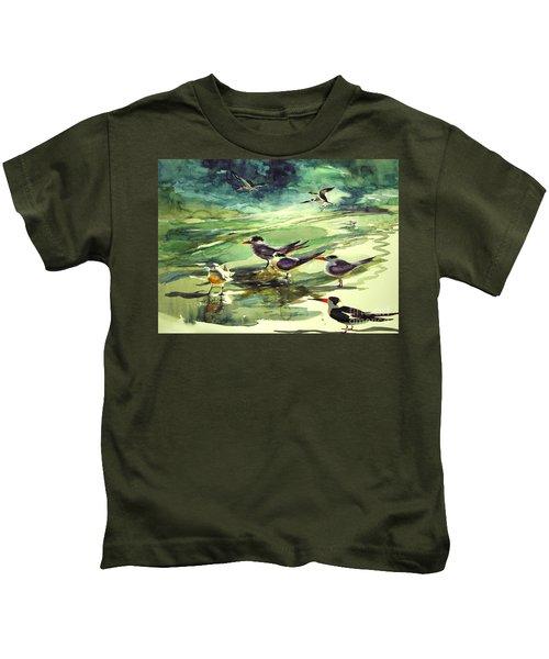 Royal Terns And Black Skimmers Kids T-Shirt