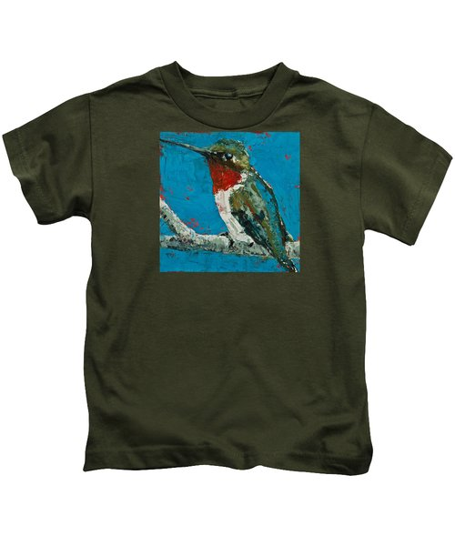 Ruby-throated Hummingbird Kids T-Shirt