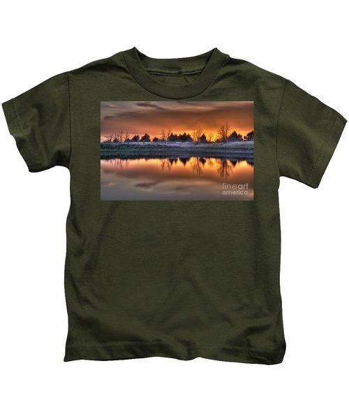 Sunset Over Bryzn Kids T-Shirt