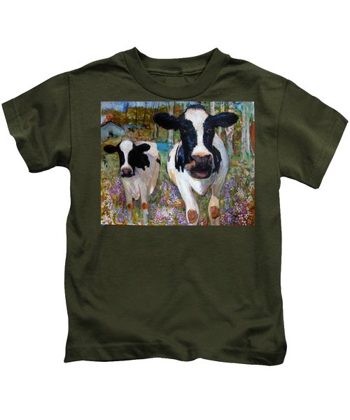 Up Front Cows Kids T-Shirt
