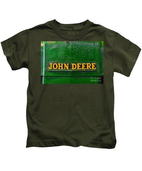 Vintage John Deere Tractor Kids T-Shirt