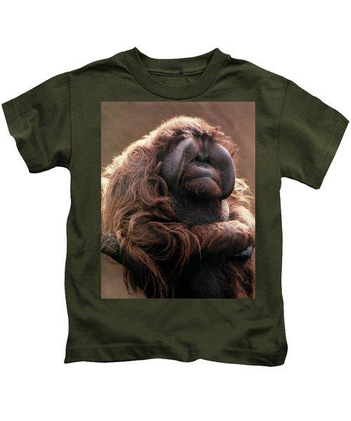 1970s Mature Adult Orangutan Pongo Kids T-Shirt