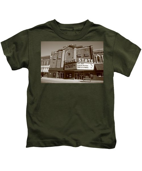Alpena Michigan - State Theater Kids T-Shirt