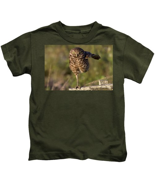 Burrowing Owl Photograph Kids T-Shirt