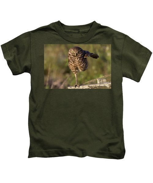 Burrowing Owl Photograph Kids T-Shirt