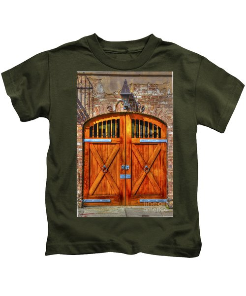 Doors Of Charleston Kids T-Shirt