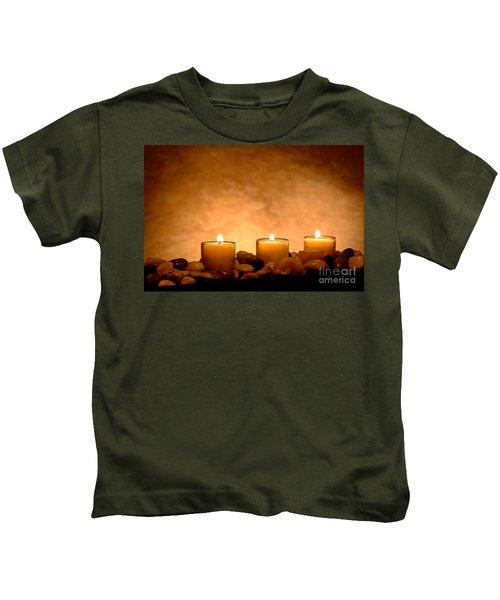 Meditation Candles Kids T-Shirt