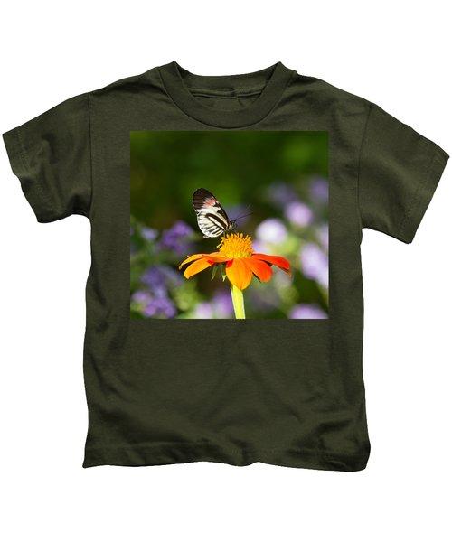 Piano Key Butterfly Kids T-Shirt