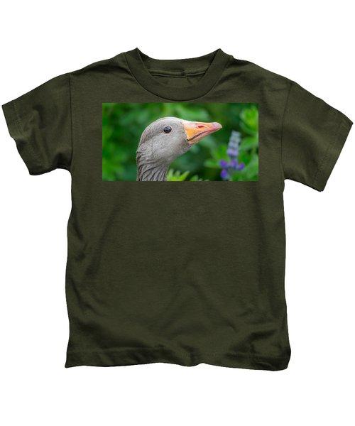 Portrait Of Greylag Goose, Iceland Kids T-Shirt