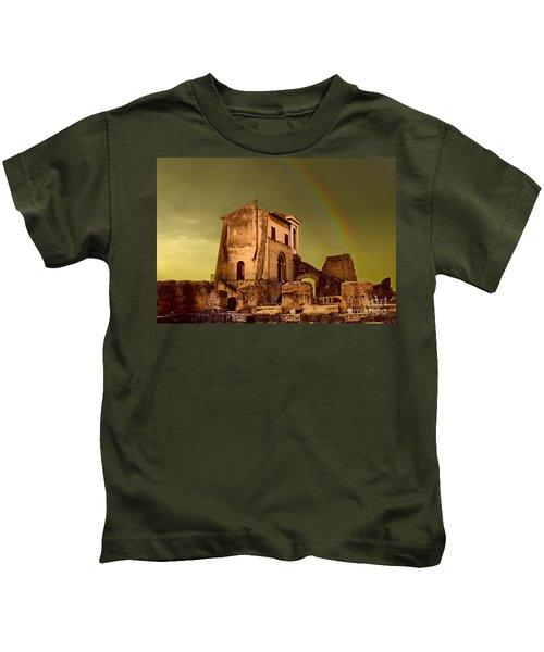 Ruin At Palatine Hill Kids T-Shirt