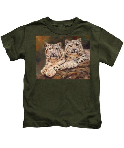 Snow Leopards Kids T-Shirt