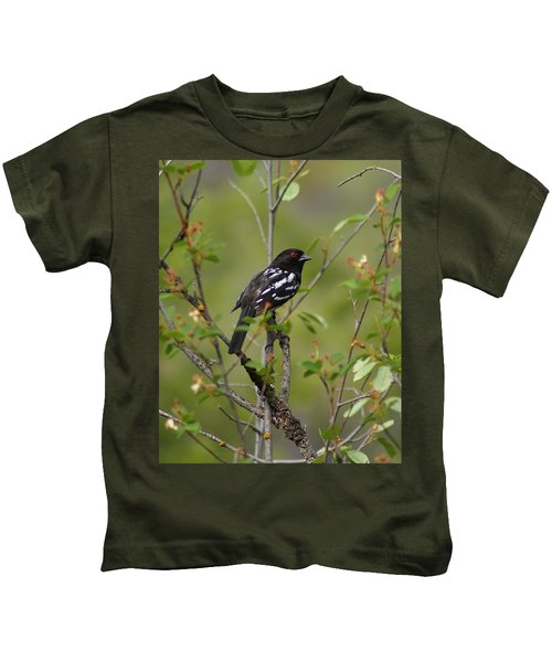 Spotted Towhee Kids T-Shirt