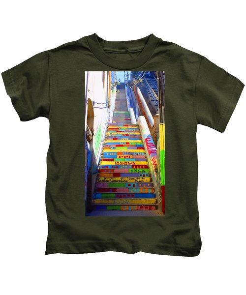 Stairway To Heaven Valparaiso  Chile Kids T-Shirt
